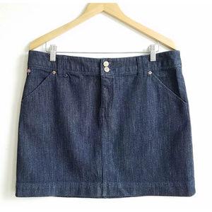 Lilly Pulitzer Denim Jean Mini Skirt PalmBeach Fit